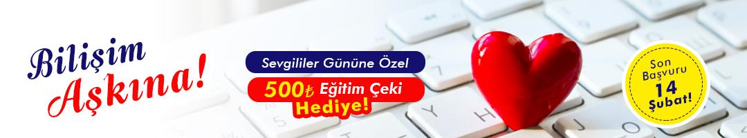 Sevgililer Gününe Özel 500 TL Eğitim Çeki Hediye!