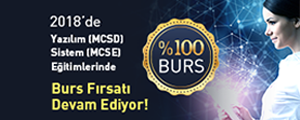 Yazılım (MCSD) ve Sistem (MCSE) Eğitimlerinde %100 Burs Fırsatı!